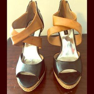 "Black and Tan 4"" heels"